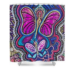 Butterfly Angels Shower Curtain