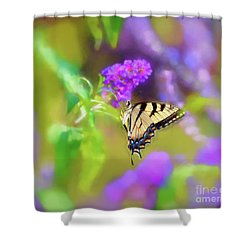 Shower Curtain featuring the photograph Butterfly Art - Eastern Tiger Swallowtail by Kerri Farley