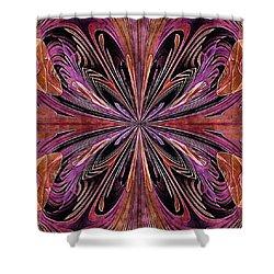 Butterfly Art Nouveau Shower Curtain