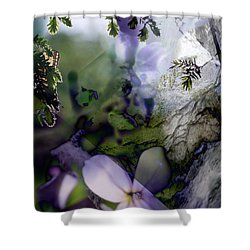 Butterfly Basket Shower Curtain