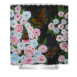Butterfly Beauty Shower Curtain by Teresa Wing