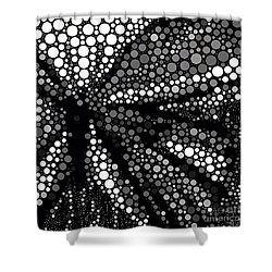 Butterfly Black And White Abstract Shower Curtain