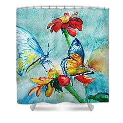 Butterfly Dance Shower Curtain by Jasna Dragun