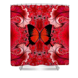 Butterfly Dream Phone Case Shower Curtain by Lea Wiggins