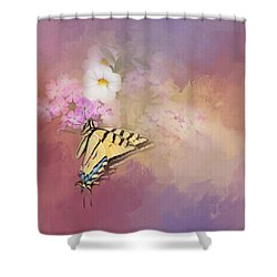 Shower Curtain featuring the photograph Butterfly Dreams by Theresa Tahara