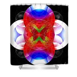 Butterfly Effect Shower Curtain by Iowan Stone-Flowers