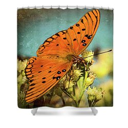 Butterfly Enjoying The Nectar Shower Curtain