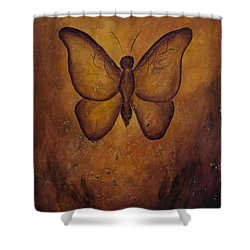 Shower Curtain featuring the painting Butterfly Freedom by Jocelyn Friis