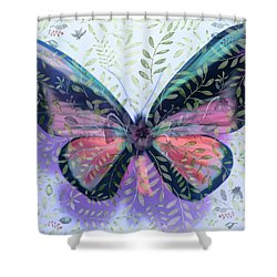 Butterfly Garden Fantasy Shower Curtain