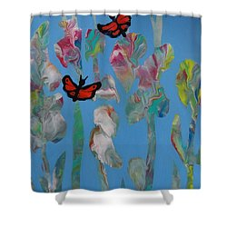 Butterfly Glads Shower Curtain