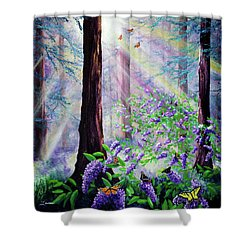 Butterfly Grove In Redwood Forest Shower Curtain
