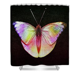 Butterfly In Retro  Shower Curtain