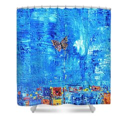 Butterfly In The Wind Shower Curtain