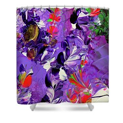 Butterfly Island Treasures Shower Curtain