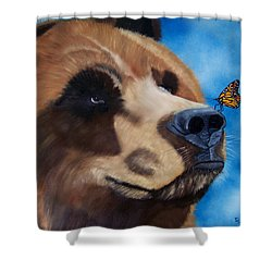 Butterfly Kisses Shower Curtain by Debbie LaFrance