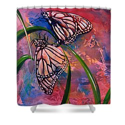 Butterfly Love Shower Curtain by AnnaJo Vahle