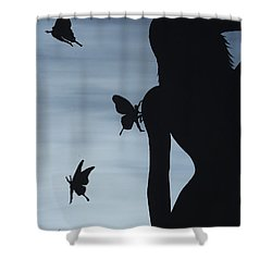 Butterfly Men Shower Curtain