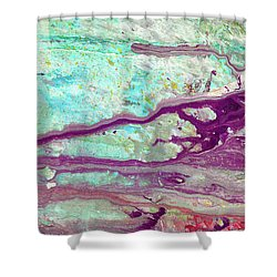 Butterfly Mind - Large Colorful Pastel Abstract Art Painting Shower Curtain