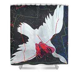 Shower Curtain featuring the painting Butterfly Nebula by Denise Weaver Ross