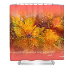 Butterfly Of Love And Peace Shower Curtain