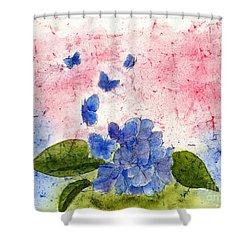 Butterflies Or Hydrangea Flower, You Decide Shower Curtain