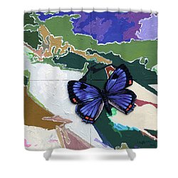 Butterfly Over Great Lakes Shower Curtain