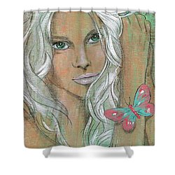 Butterfly Shower Curtain by P J Lewis
