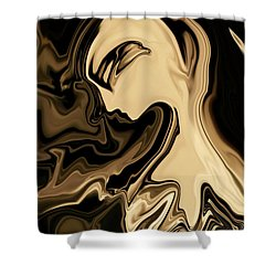 Shower Curtain featuring the digital art Butterfly Princess by Rabi Khan