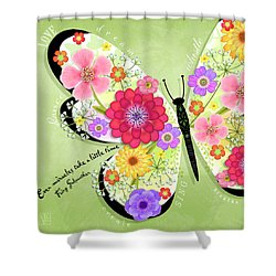 Butterfly Promise Shower Curtain