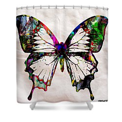 Butterfly Rainbow Shower Curtain