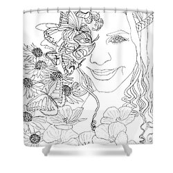 Butterfly Runner Shower Curtain