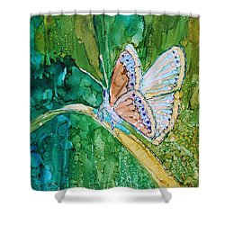 Butterfly Shower Curtain by Ruth Kamenev