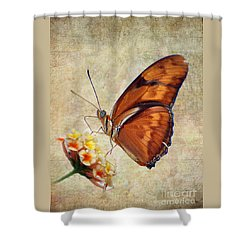 Butterfly Shower Curtain by Savannah Gibbs