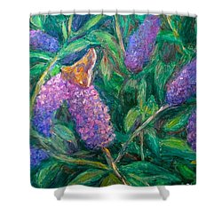 Shower Curtain featuring the painting Butterfly View by Kendall Kessler