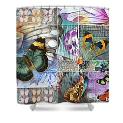 Butterfly Wings Collage Shower Curtain