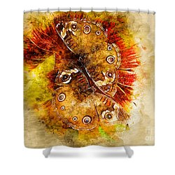 Butterflying Shower Curtain