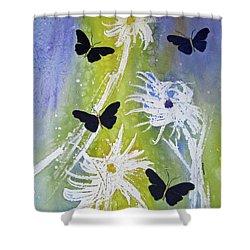 Butteryfly Flutter Shower Curtain by Elvira Ingram