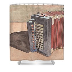 Button Accordion Shower Curtain