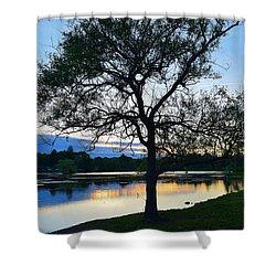 Buttonwood Pond Shower Curtain