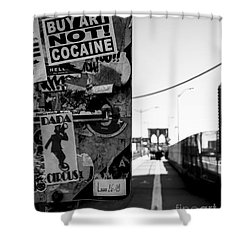 Buy Art Not Cocaine Shower Curtain