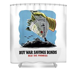Buy War Savings Bonds Shower Curtain by War Is Hell Store