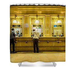 Shower Curtain featuring the photograph Buying A Ticket by M G Whittingham