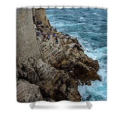 Buza Bar On The Adriatic In Dubrovnik Croatia Shower Curtain