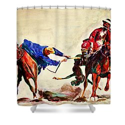 Buzkashi, A Power Game Shower Curtain