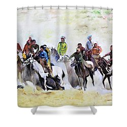 Buzkashi Sport Shower Curtain