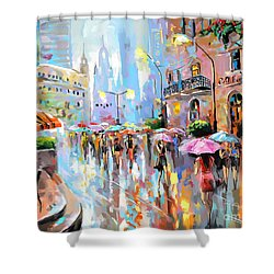 Buzy City Streets Shower Curtain