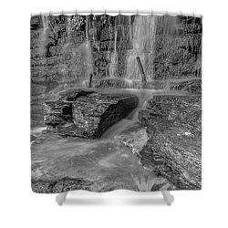 Bw Rock Wall Waterfall Shower Curtain
