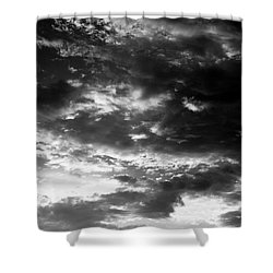 Shower Curtain featuring the photograph Bw Sky by Eric Christopher Jackson