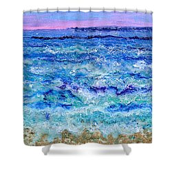 By The Beautiful Sea Shower Curtain by Regina Valluzzi