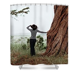 By The Cypress Shower Curtain